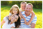 Smiling family who know what is schizophrenia and believe in mental health recovery